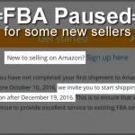 FBA Paused For Some New Amazon Sellers